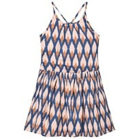 Soft Gallery Tory Dress in Pale Blush Ikat Blue Pale Blush, AOP Ikat Blue