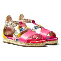 Diesel Gold and Pink Espadrille Sandals H6308