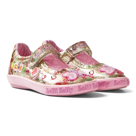 Lelli Kelly Dolly Flutterby Shoes Gold Multi