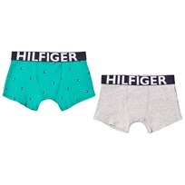 Tommy Hilfiger 2 Pack Grey Turquoise Trunks 902