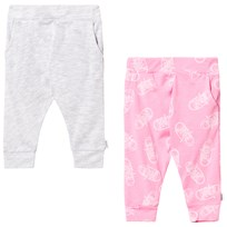 Converse 2 Pack Joggers Grey Pink Set A88