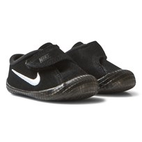 NIKE Waffle 1 Crib Shoes Black Sort