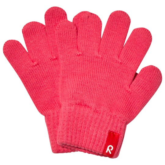 Reima Gloves (knitted), Klippa Strawberry Red Strawberry red