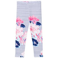Joules Navy and Floral Stripe Leggings CHALK POSEY STRIPE