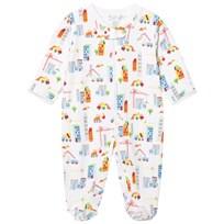 Kissy Kissy White Building Print Footed Baby Body WH