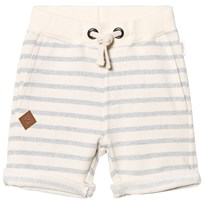 eBBe Kids Sixten Sweat Shorts Blue Fog Stripes Blue fog stripe