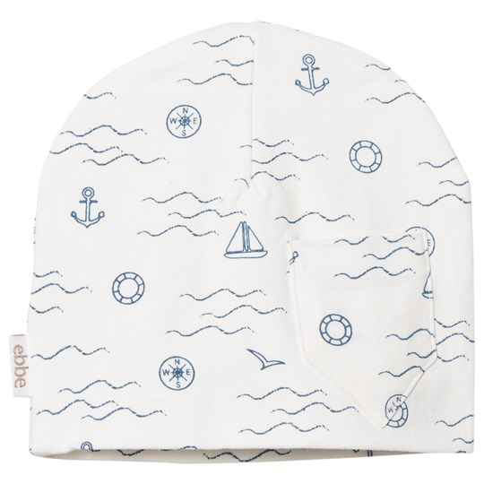 ebbe Kids Mudd Beanie Navy Waves Navy waves