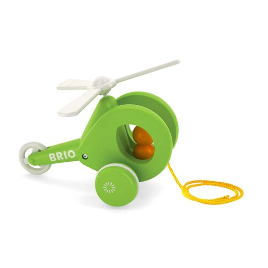 BRIO BRIO Baby - 30195 Pull-Along Helicopter Green