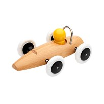 BRIO Race Car Wood BROWN