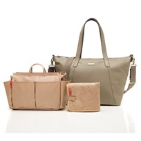 Storksak Noa Changing Bag Leather Clay Musta