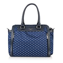 Armani Junior Navy All Over Branded Changing Bag Navy