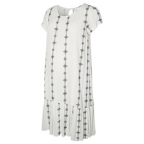 Mamalicious Crepe Detailed Woven Maternity Dress Snow White White