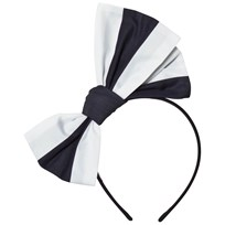 Jessie & James Origami Bow Headband Nautical Stripes Marinblå