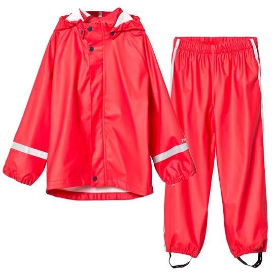 Reima Viima Rain Outfit Red Red
