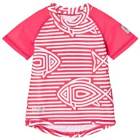 Reima Azores Swim Shirt Strawberry Red Strawberry red