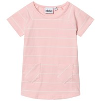 eBBe Kids Erin A-Line Dress Powder Pink/Off White Stripes Powder pink/offwhite stripe