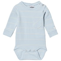eBBe Kids Elva Baby Body Pale Sky/Off White Stripes Pale sky/offwhite stripe