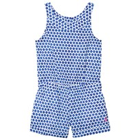 Joules Navy Spot Woven Playsuit POOL BLUE SPOT