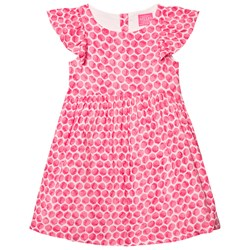 Joules Bright Pink Spot Woven Party Dress