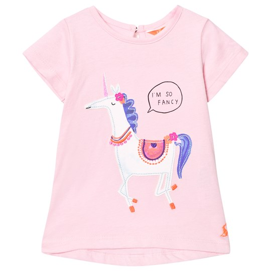 Tom Joule Pink Unicorn Applique Tee ROSE PINK UNICORN