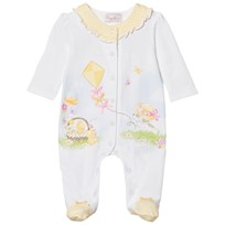 Mayoral Footed Baby Body Yellow Puppy and Kite Print 64