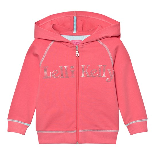 Lelli Kelly Pink Diamante Branded Hoody Dark Pink