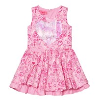 Lelli Kelly Pink Floral Print Dress with Sequin Heart Pink