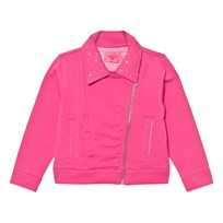Lelli Kelly Pink Sweat Biker Jacket with Diamante Detail Pink