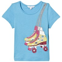 Little Marc Jacobs Blue Rollerboot Print Tee 77M