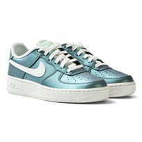 NIKE Irridescent Air Force 1 Junior Trainers FRESH MINT/SUMMIT WHITE-BLACK