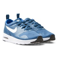 NIKE Blue Air Max Tavas Kids Trainers INDUSTRIAL BLUE/WHITE-PHOTO BLUE-BLACK