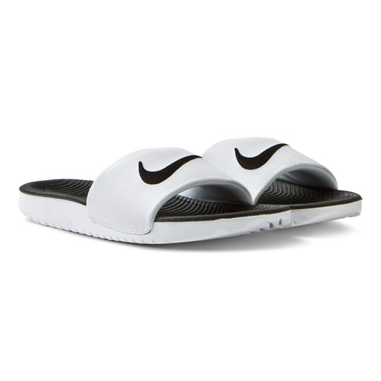 NIKE Kawa Sliders White White/Black