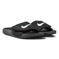 NIKE Black and White Kawa Adjustable Sandals Sort