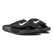 NIKE Black and White Kawa Adjustable Sandals Musta