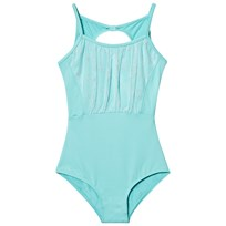 Bloch Blue Glitter Twin Bow Back Cardea Leotard Blue Radiance