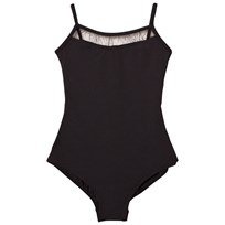 Bloch Black Glitter Twin Bow Back Goidron Leotard Black