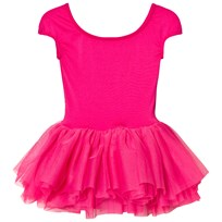Bloch Hot Pink Heart Mesh Back Tutu Leotard Hot Pink