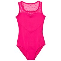 Bloch Hot Pink Heart Mesh Eirene Leotard Hot Pink