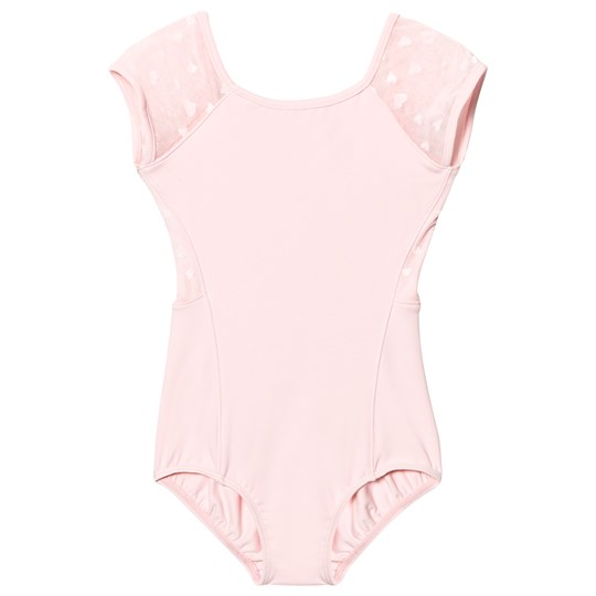 Bloch Pink Heart Mesh Back Anapa Leotard Candy Pink