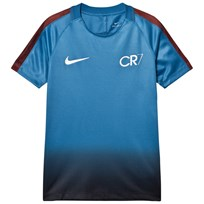 NIKE Blue Navy Ombre CR7 Dry Squad Tee INDUSTRIAL BLUE/TART/METALLIC SILVER