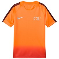 NIKE Orange Red Ombre CR7 Dry Squad Tee TART/TART/METALLIC SILVER