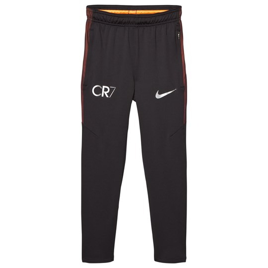 NIKE Black CR7 Dry Squad Pants BLACK/BLACK/TRACK RED/METALLIC SILVER