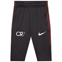 NIKE Black CR7 Dry Squad 3/4 Pants BLACK/BLACK/TRACK RED/METALLIC SILVER