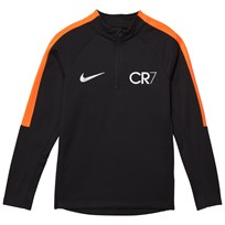 NIKE Black CR7 Squad Drill Top BLACK/TART/METALLIC SILVER