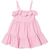 Ralph Lauren Pink Seersucker Frill Dress 002