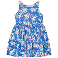 Ralph Lauren Blue Floral Print Party Dress 001