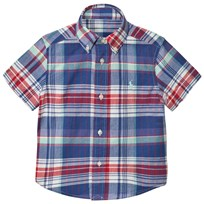 Ralph Lauren Blue Red Madras Check Shirt 002
