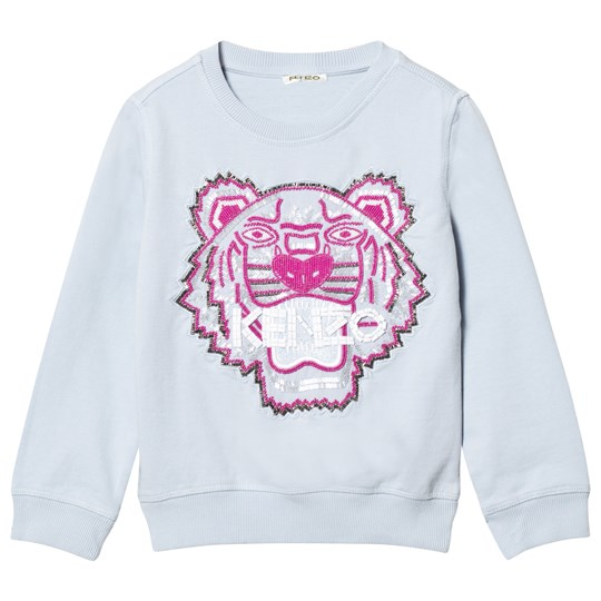 Kenzo Blue Beaded and Embroidered Tiger Sweatshirt 40