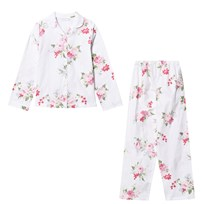 The Little White Company White Multi Floral Flannel Pyjamas Lyserød