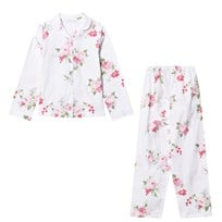 The Little White Company White Multi Floral Flannel Pyjamas розовый